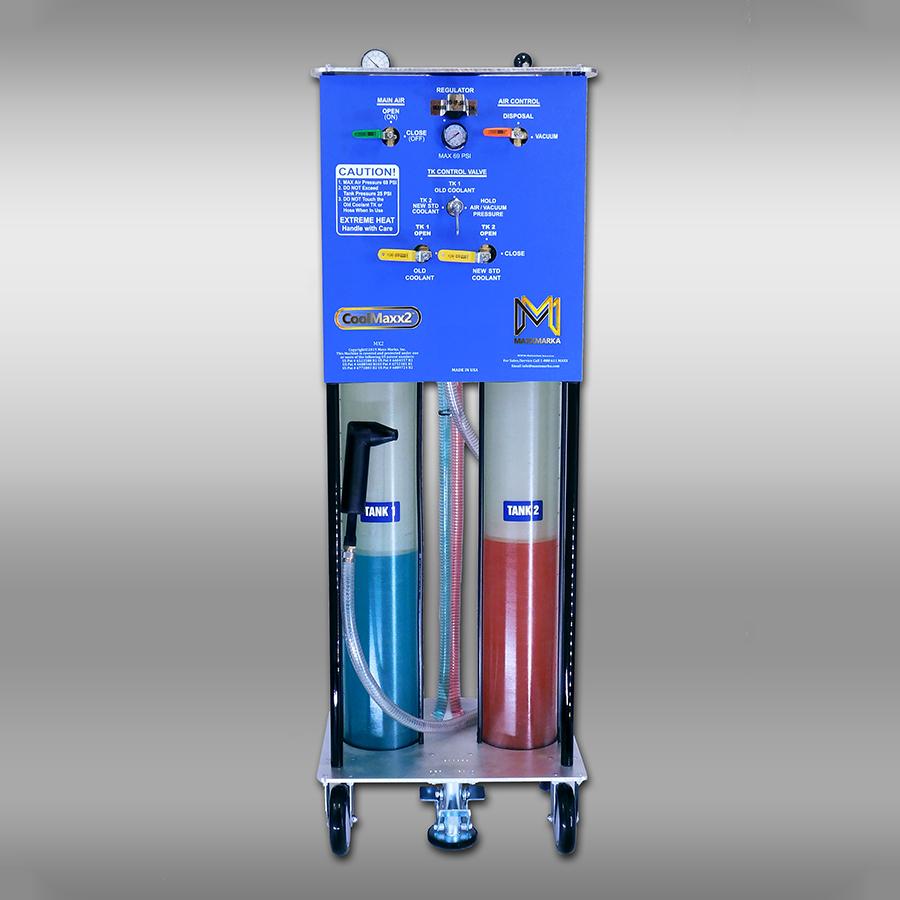 CoolMaxx2, coolant flush machine, two tank, automotive coolant exchange